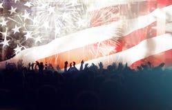 Célébration du Jour de la Déclaration d'Indépendance aux USA Images libres de droits