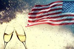 Célébration du Jour de la Déclaration d'Indépendance aux USA Images stock