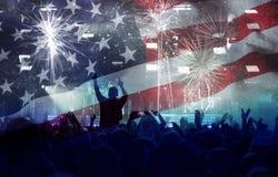Célébration du Jour de la Déclaration d'Indépendance aux USA Image libre de droits