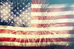 Célébration du Jour de la Déclaration d'Indépendance aux USA Photo stock