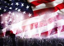 Célébration du Jour de la Déclaration d'Indépendance aux USA Photos libres de droits