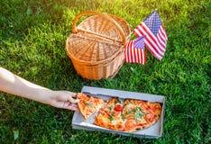 Célébration du Jour de la Déclaration d'Indépendance de l'Amérique Image stock