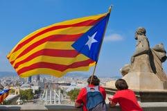 Célébration du jour national de la Catalogne en Ba Image stock