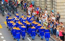 Célébration du jour national suisse à Zurich, Suisse Images libres de droits