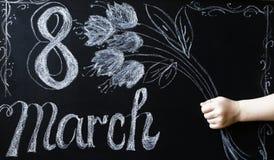 Célébration du 8 mars Images libres de droits