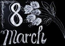 Célébration du 8 mars Image stock