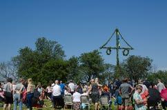 Célébration du milieu de l'été en Suède Image libre de droits
