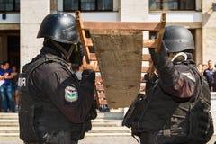 Célébration du troisième anniversaire de la police nationale d'U Photo libre de droits