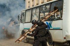 Célébration du troisième anniversaire de la police nationale d'U Images stock