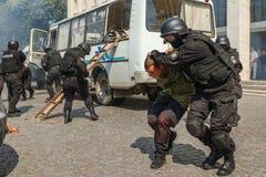 Célébration du troisième anniversaire de la police nationale d'U Image libre de droits