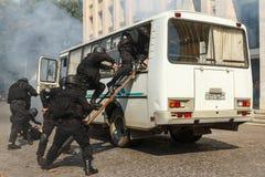 Célébration du troisième anniversaire de la police nationale d'U Photos stock
