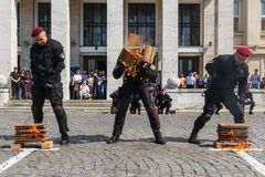 Célébration du troisième anniversaire de la police nationale d'U Photographie stock