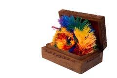 Célébration en bois antique d'amusement de coffre photo stock