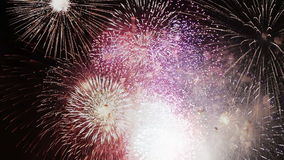 Célébration et fond d'explosions de feux d'artifice banque de vidéos