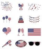 Célébration et symboles américains illustration stock
