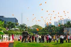 Célébration extérieure de mariage Photographie stock libre de droits