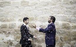 Célébration gaie de mariage Photographie stock libre de droits