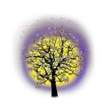 Célébration heureuse, arbre drôle avec des symboles de vacances Photographie stock