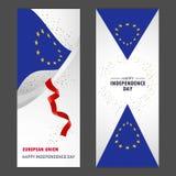 Célébration heureuse Backg de confettis de Jour de la Déclaration d'Indépendance d'Union européenne illustration libre de droits