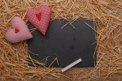 Célébration heureuse d'amour de jour de valentines dans un style rustique Photos stock