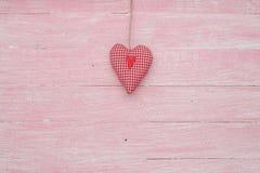Célébration heureuse d'amour de jour de valentines dans un style rustique d'isolement Image libre de droits