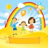 Célébration heureuse d'enfants Photo libre de droits