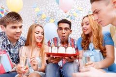 Célébration heureuse d'un anniversaire Photo stock