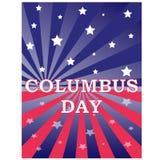 Célébration heureuse de Columbus Day Photos libres de droits