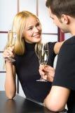 Célébration heureuse de couples Photographie stock