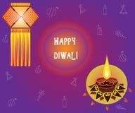 Célébration heureuse de Diwali Drapeau créateur illustration stock