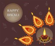 Célébration heureuse de Diwali Drapeau créateur illustration de vecteur
