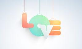 Célébration heureuse de jour de Valentine avec le texte accrochant Photos libres de droits