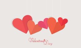 Célébration heureuse de Saint-Valentin avec des coeurs Images libres de droits
