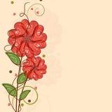 Célébration heureuse de Saint-Valentin avec des fleurs de forme de coeur Images libres de droits
