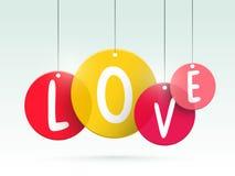Célébration heureuse de Saint-Valentin avec l'étiquette d'amour Photo libre de droits