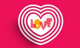 Célébration heureuse de Saint-Valentin avec le coeur créatif Photo libre de droits