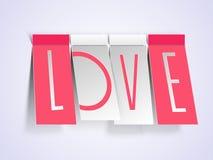 Célébration heureuse de Saint-Valentin avec le texte élégant Photos libres de droits