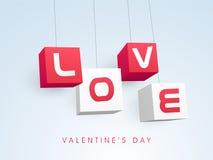 Célébration heureuse de Saint-Valentin avec le texte élégant Images stock