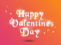 Célébration heureuse de Saint-Valentin avec le texte 3D Photographie stock