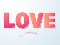 Célébration heureuse de Saint-Valentin avec le texte d'amour Photo stock