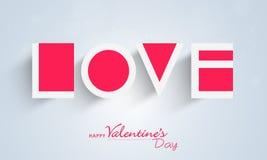 Célébration heureuse de Saint-Valentin avec le texte de papier Image stock