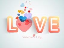 Célébration heureuse de Saint-Valentin avec les coeurs colorés Images libres de droits