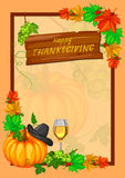 Célébration heureuse de vacances de jour de thanksgiving de festival de récolte Photographie stock