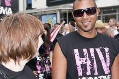 Célébration homosexuelle de défilé de fierté de Brighton images libres de droits