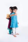 Célébration indienne de frère et de soeur rakshabandhan ou festival de rakhi Image stock