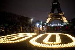 Célébration internationale d'heure de la terre, Paris, Image libre de droits