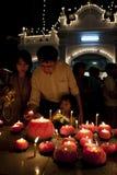 Célébration le 30 avril 2007 de jour de Wesak Photos libres de droits