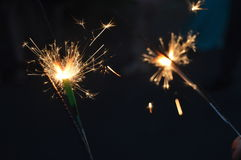 Célébration par des étincelles Photos stock