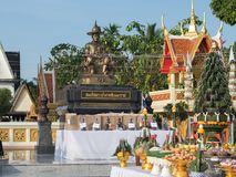 Célébration pour le Roi Taksin le grand image libre de droits