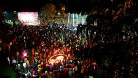Célébration publique de Diwali photographie stock libre de droits